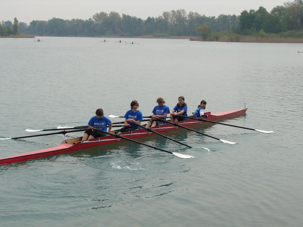 Vierer mit Steuermann bei der Sachsenmeisterschaft in Eilenburg
