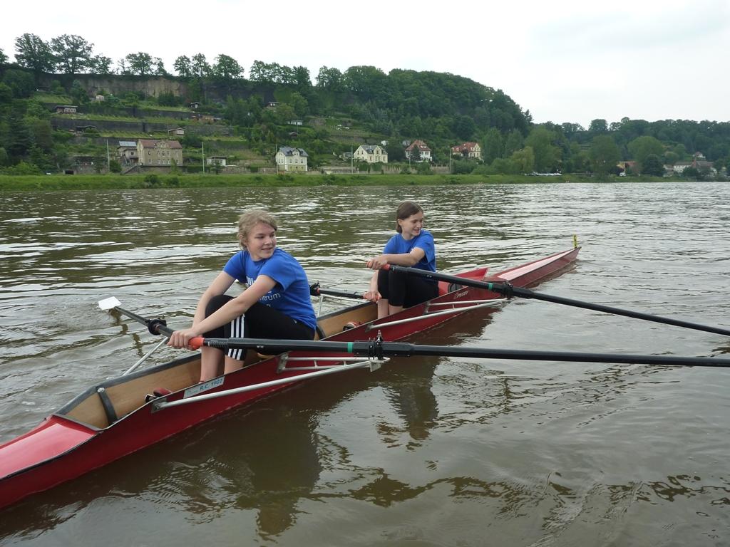 Auf der Elbe in Pirna